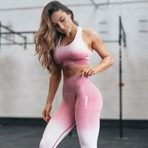 Gymshark Pink Ombre Seamless Leggings Size M